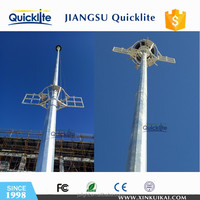 high voltage power transmission galvanized steel electric pole