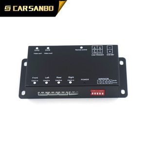 Car camera Video quad Split Control Box with Camera Mirror Control