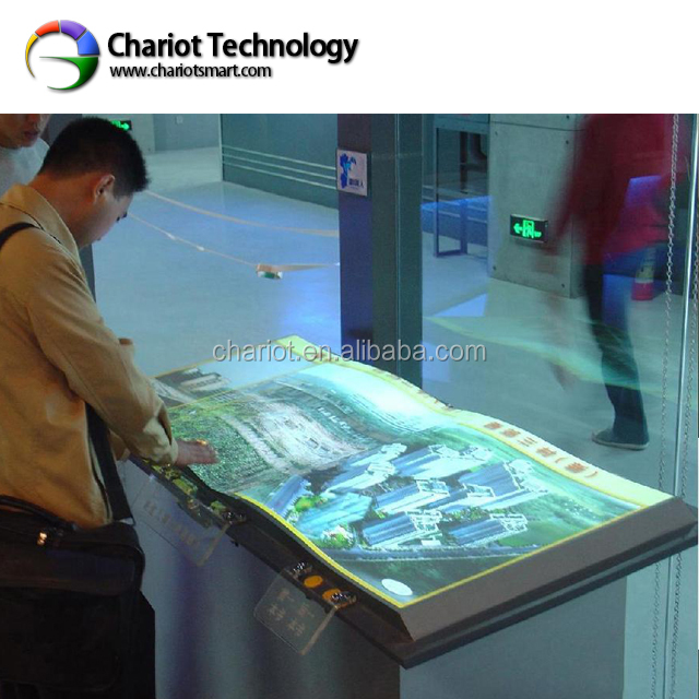 Good experience!! Chariot fun Interactive projection system virtual book , projection ebook on sale.