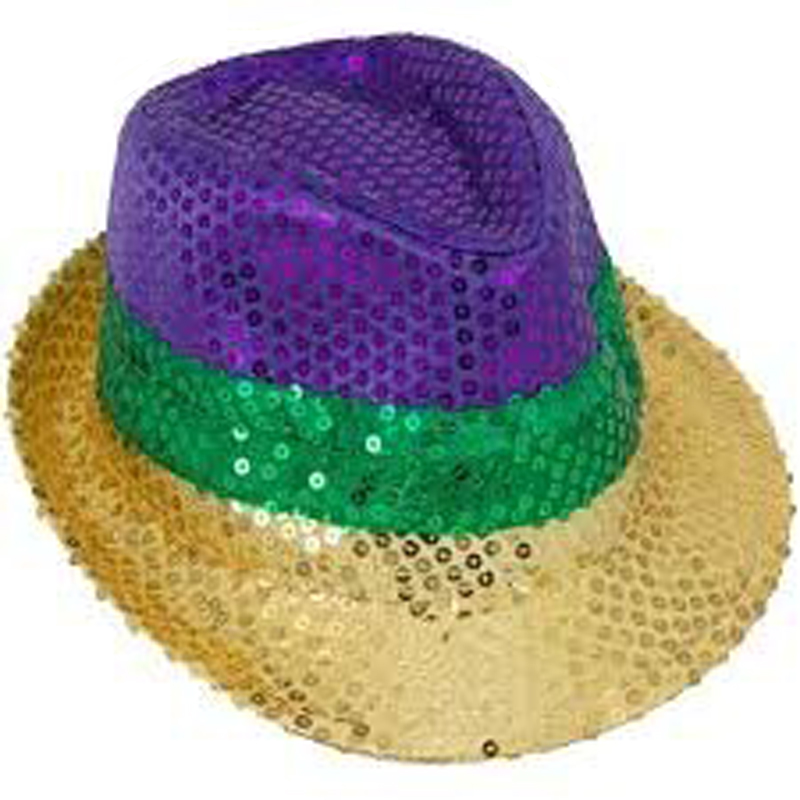 6713d75996c16 Fashion Hot Sale Mardi Gras Sequin Fedora Hat For Party - Buy Party ...