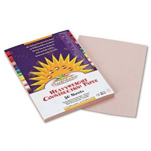 SunWorks Products - SunWorks - Construction Paper, 58 lbs., 9 x 12, Gray, 50 Sheets/Pack - Sold As 1 Pack - Brightly-colored, high-strength, heavyweight construction paper with long, strong fibers that cut clean and fold evenly without cracking. - All purpose, high bulk, smooth textured. - Made