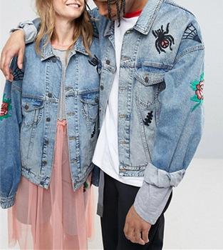 new style 6dd51 fe3eb Ultime Uomo Vestiti Giacca Di Jeans Giacca Di Jeans Oversize Con Ricami In  Lavaggio Blu - Buy Ricamato Uomini Giacca Di Jeans,Ultimo Uomo Vestiti ...