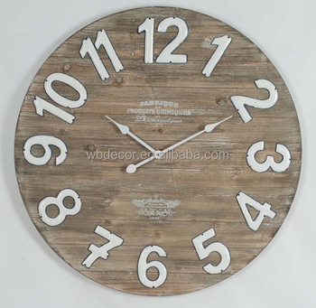 Large Galvanized Numbers Wood Clock Wood Wall Art Collection Oversize Aged Rustic Wall Clock Oversize Wooden Wall Clock Buy Large Galvanized
