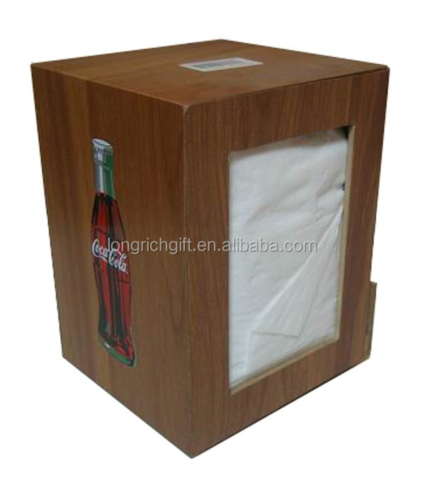 Advertising Wooden Napkin Holder Napkin Dispenser