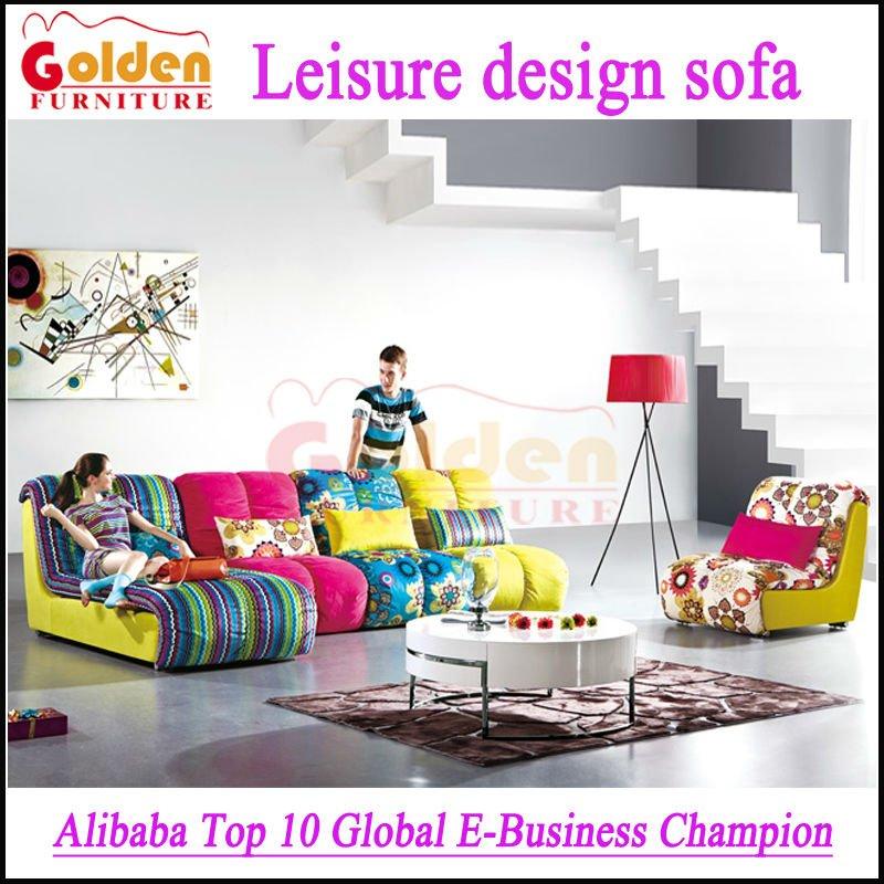 Migliore vendita di lusso salotti moderni divani colorati - Divani colorati ...