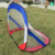 Colorful world cup country 4ft foldable football soccer training pop up goal net post portable soccer goals