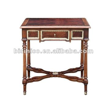 Clical Solid Wood Hand Carved Home Small Desk Writing Table Moq 1pc B400125 Antique Product On