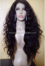 queen quality 100% brazilian human hair full lace wig