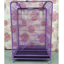 New Good Stainless Steel Pet Cage Purple Pink