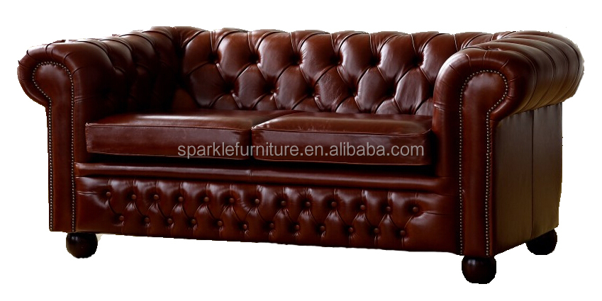 <strong>Modern</strong> Claridge Black Chesterfield Sofa Upholstered Leather Living Room Sofa(2 seaters)
