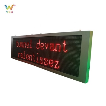 High quality traffic car sign board programme text led display outdoor