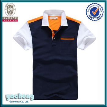 Custom mens color combination cotton polo shirts design for Polo shirt color combination