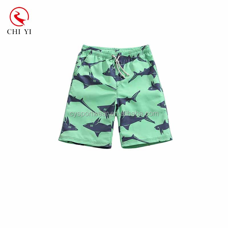 Shark Printed sublimation print swim trunks mens swimwear with mesh lining