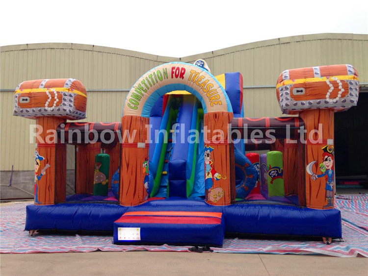 pirate Theme Inflatable Bouncer / inflatable combo castles / inflatable combos