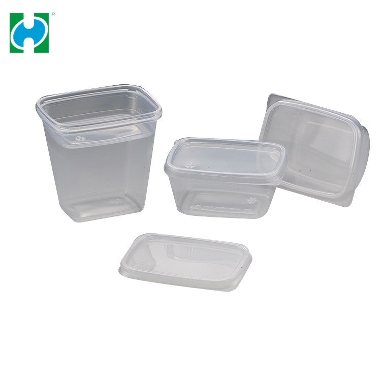 Custom Lowest Price Transparent Pp Plastic Packaging Take Away Food Boxes And Cup