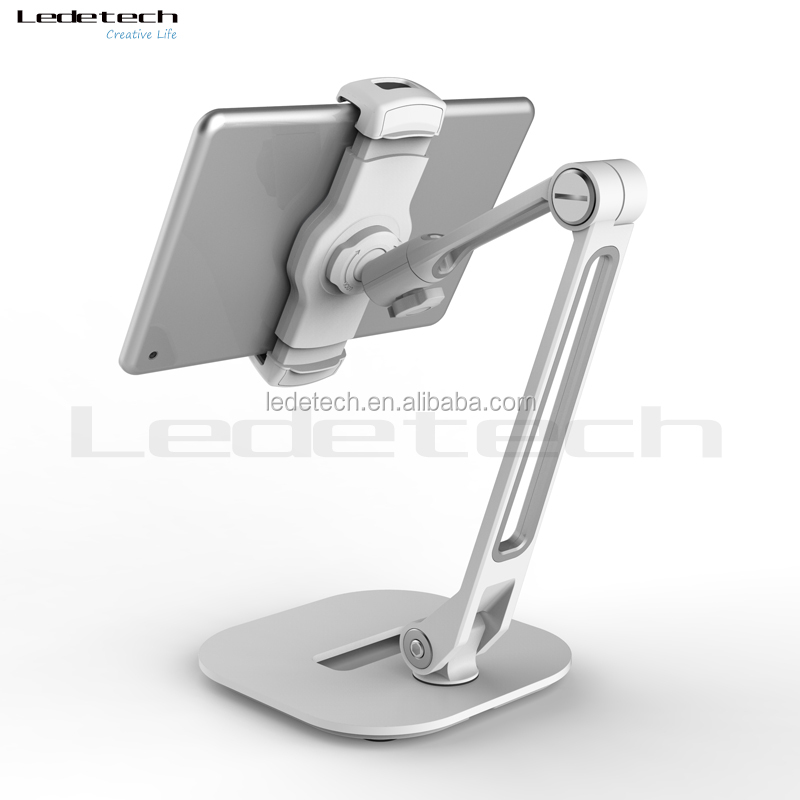 Durable Flexible Long aluminum arm metal plate tablet holder kitchen pc tablet pad gps mobile phone smartphone stand