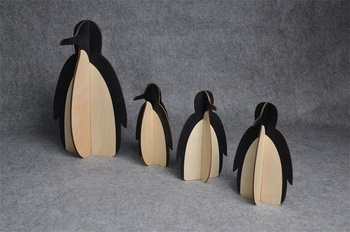 Diy Caoxian Recycled Assembly Wooden Penguin Craft Buy Diy