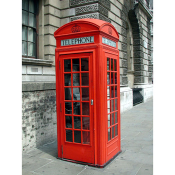 Red Antique London Public Telephone Booth Decoration For Made By Chinese Manufacture