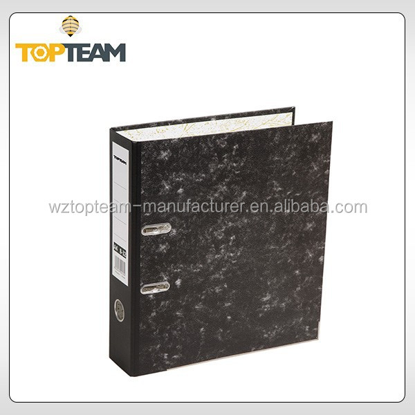 Wholesale Office Stationery Supplies Cardboard Marble Metal Lever Arch File Clip Folder