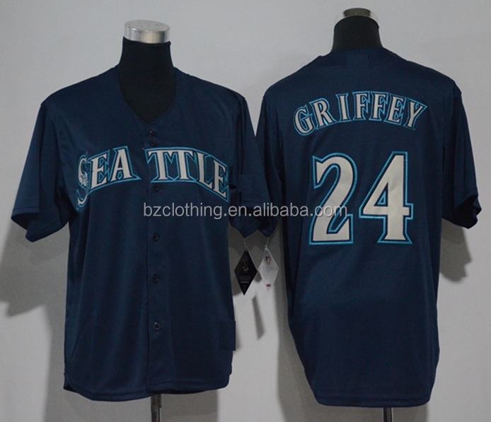 Seattle Mariners Ken Griffey Jr. Navy Cool Base Player Jersey