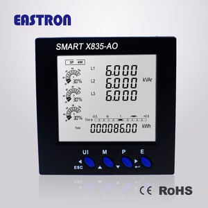 4-20mA Output SMART X835-AO Three Phase 96*96mm Multi-function Smart Power Meter Panel Mounted Energy Meter,CE Approved