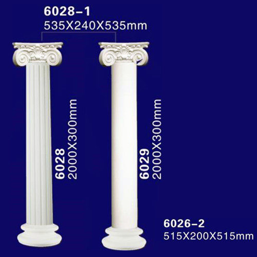 Exterior decorative plastic hollow polyurethane lighted for Exterior decorative columns