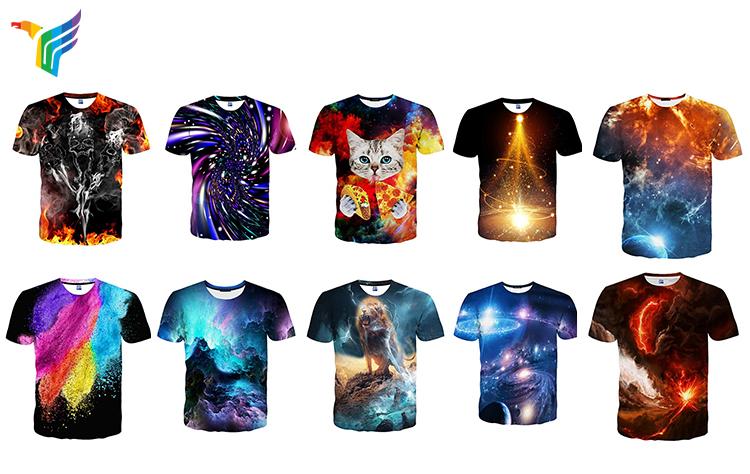 OEM ODM Заводская Мужская Летняя одежда 3d футболки Модная футболка с круглым вырезом Сублимация на заказ футболка для мужчин с крутым принтом