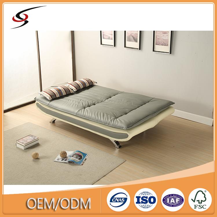 Última alemán sofá cama de diseño ecológico PVC cuero futón ...
