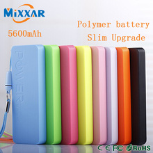 Portable Powerbank 5600mAh 5.0V DC USB External Backup Battery Charger Slim Power Bank Multicolor For tablet pc Smartphone