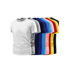 Wholesale Mulit Color Round Neck Brand T-shirt Dress Blank T-Shirt White Polyester Man T Shirt
