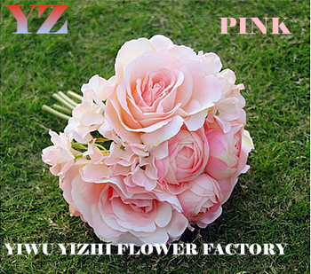 cfa6fb1e82f9 La rosa Sposa Damigella D onore Mazzi di Fiori Da Sposa Ortensia tavolo del  salotto