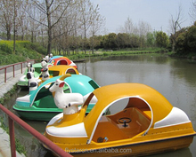 factory hot sale two-seat fiberglass pedal boat Adult pedal boat
