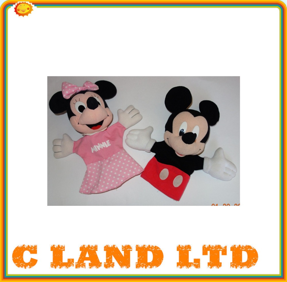 Plush Mickey Minnie Mouse puppet