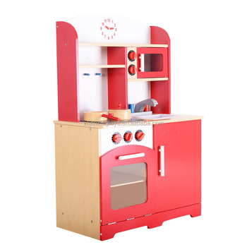 Mdf Material Red Color Kids Wooden Kitchen Toy Play Set - Buy Children  Kitchen Play Set,Kids Kitchen Play Set,Kids Kitchen Toy Product on  Alibaba.com