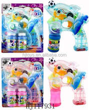 B/O Flashing Bubble Gun Toys, Electric Toys Plastic Hubble-bubble Gun With Light And Music