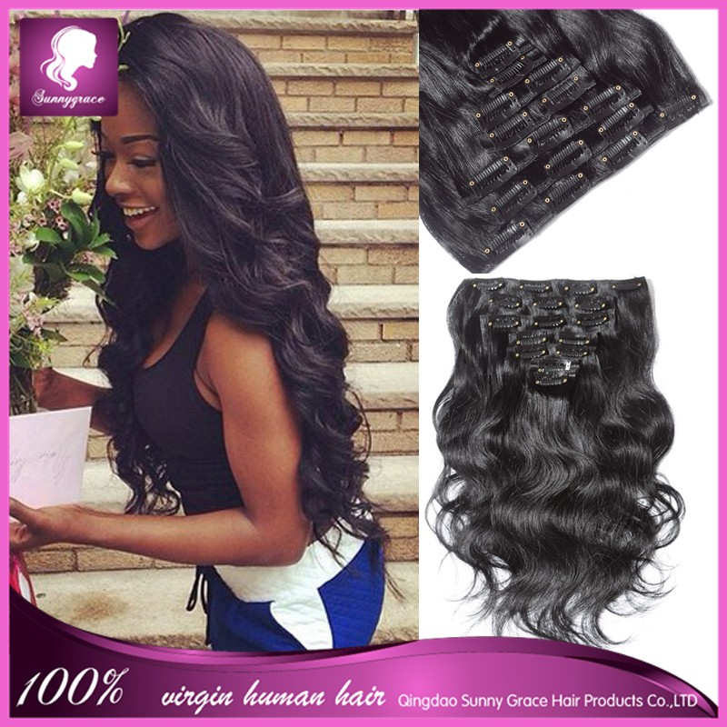 Clip hair extensions body wave virgin hair 7pcsset clip in hair clip hair extensions body wave virgin hair 7pcsset clip in hair extensions for black pmusecretfo Images