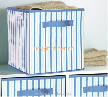 KIds Foldable Cotton/canvas Clothes Underwear Toy Storage Box Without Lid
