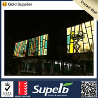 aluminum glass curtain with competitive price