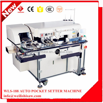 WLS-188 automatic pocket setter machine