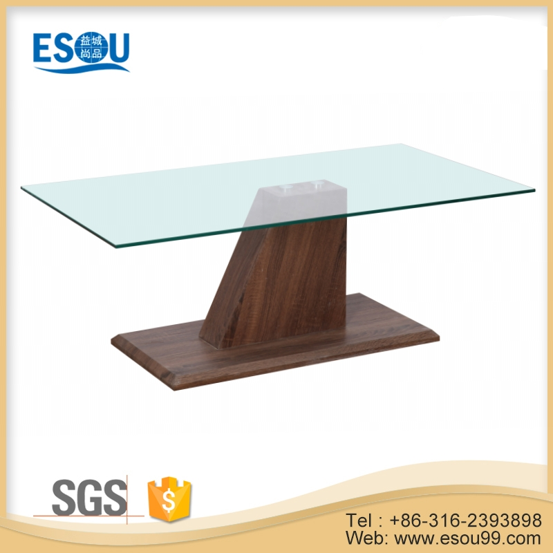 Mirrored Glass Top MDF Side Tables for Living Room Coffee Table