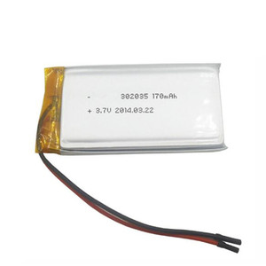 3.7V 302035 170mAh square polymer lithium battery