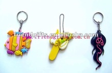2012 new personalized custom design 3d soft pvc rubber keychains (promotional item (giveaways)