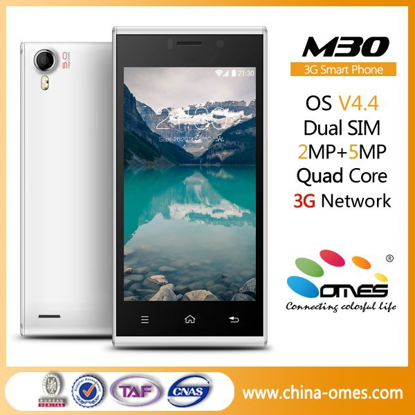 install free play store OMES Mobile M30 4.5 inch IPS Android 4.4 Quad Core 3G smart phone dual sim