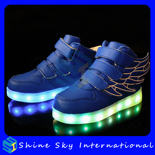Night sports led shoes led shoes with big size, shoes led shoes with big size, disco durable led shoes for baby