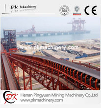 Large scale belt conveyor system for mineral ore coal