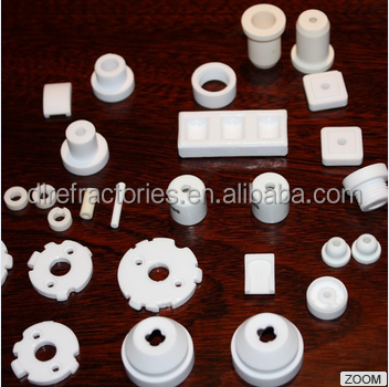 high purity alumina ceramic casting parts with glaze