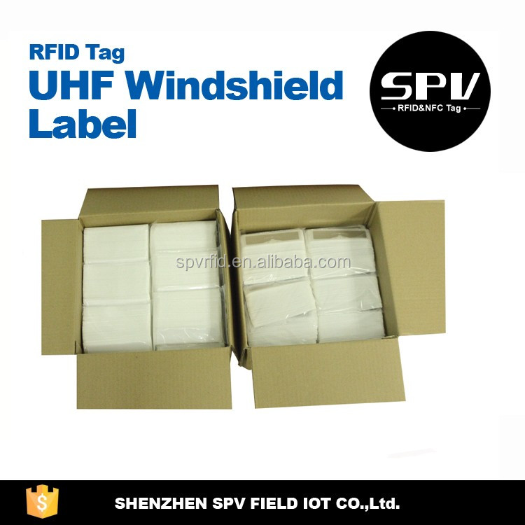 Customized UHF Windshield RFID Tag PVC Waterproof