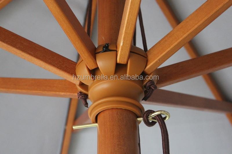 130cmx8panels palo de madera natural muebles cantilever for Sombrillas de madera para jardin