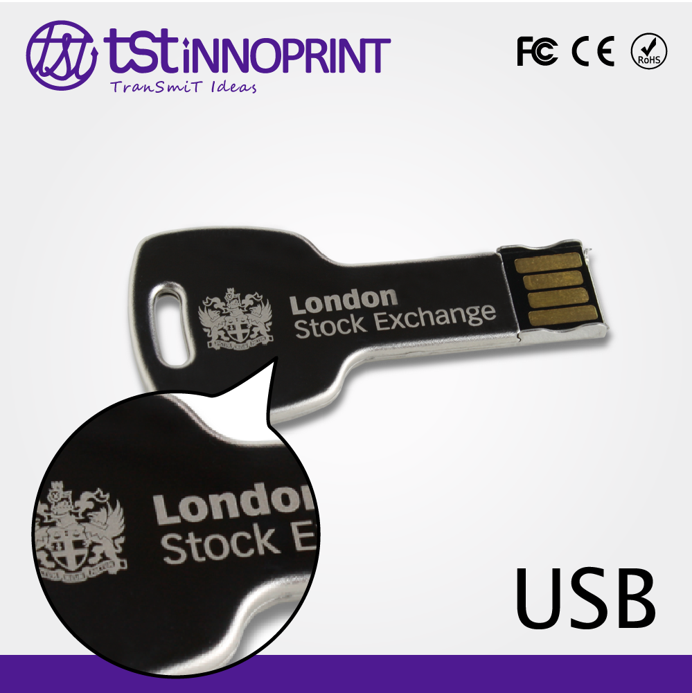 Father's Day Promotion Custom Print OEM USB Metal Pen Drive Key