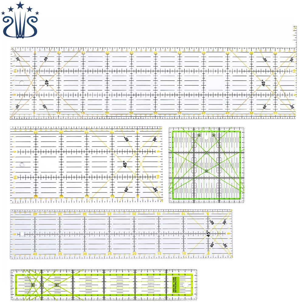 CZ-30 Eco-friendly Acrylic Patchwork Quilting Scale Promotional Ruler Set